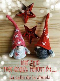 La calle de la abuela: Little Fino. A free amigurumi Christmas gnome pattern #christmasgnomes