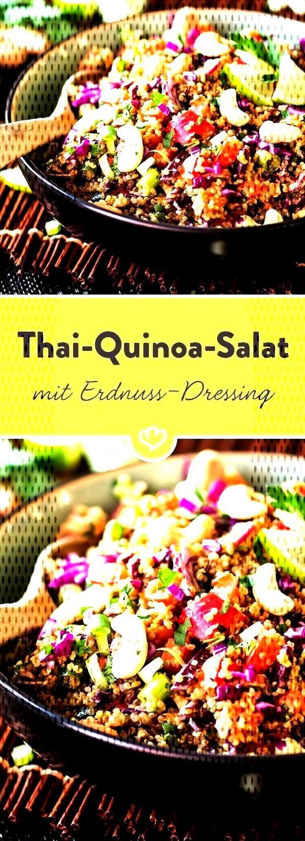Thai quinoa salad with peanut and ginger vinaigrette Thai quinoa salad with peanut and ginger vinai