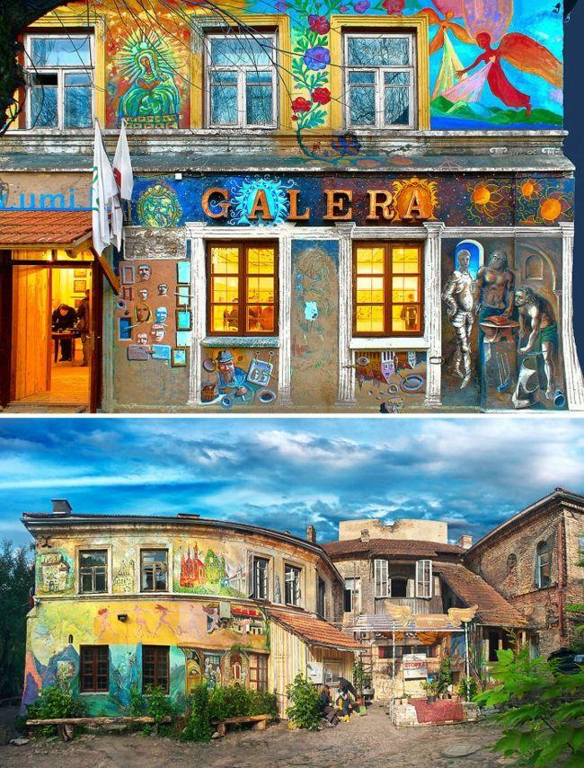 Hausfassade Streichen Bringen Sie Alle Regenbogenfarben Zum Einsatz  Hausfassade Streichen