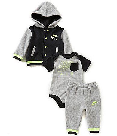 75bc27d88 Nike Baby Boys Newborn12 Months Color Block Fleece Hoodie Bomber ...