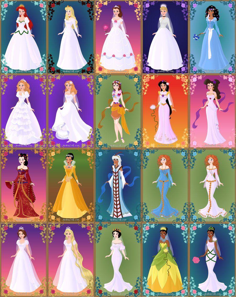 Disney Brides By Ladyaquanine73551 On Deviantart Disney Princess Wedding All Disney Princesses Disney Bride [ 1132 x 900 Pixel ]