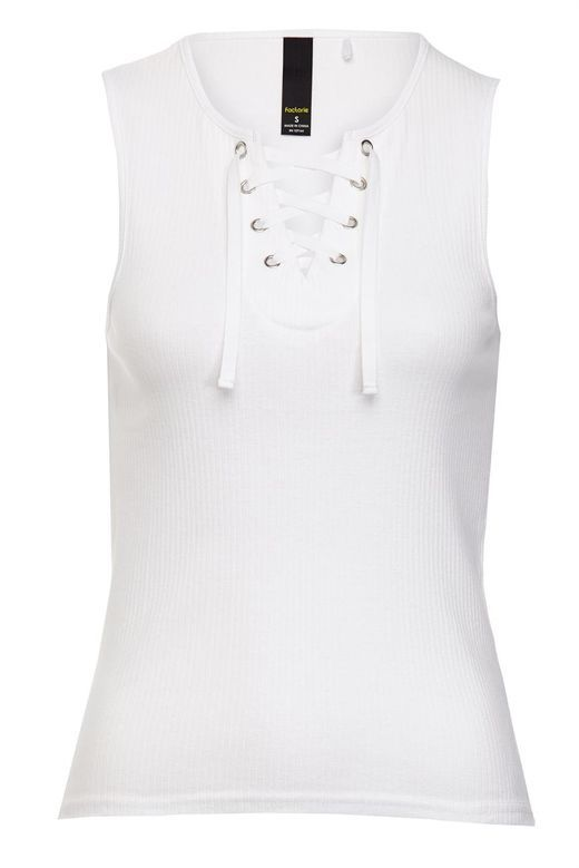 lace front rib tank
