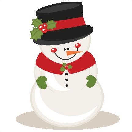 christmas snowman scrapbook clip art christmas cut outs for cricut rh pinterest com cute snowman clipart free Cute Snowman Clip Art Black and White