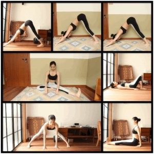 5minute yoga exercises to get tight legs gifs  yoga
