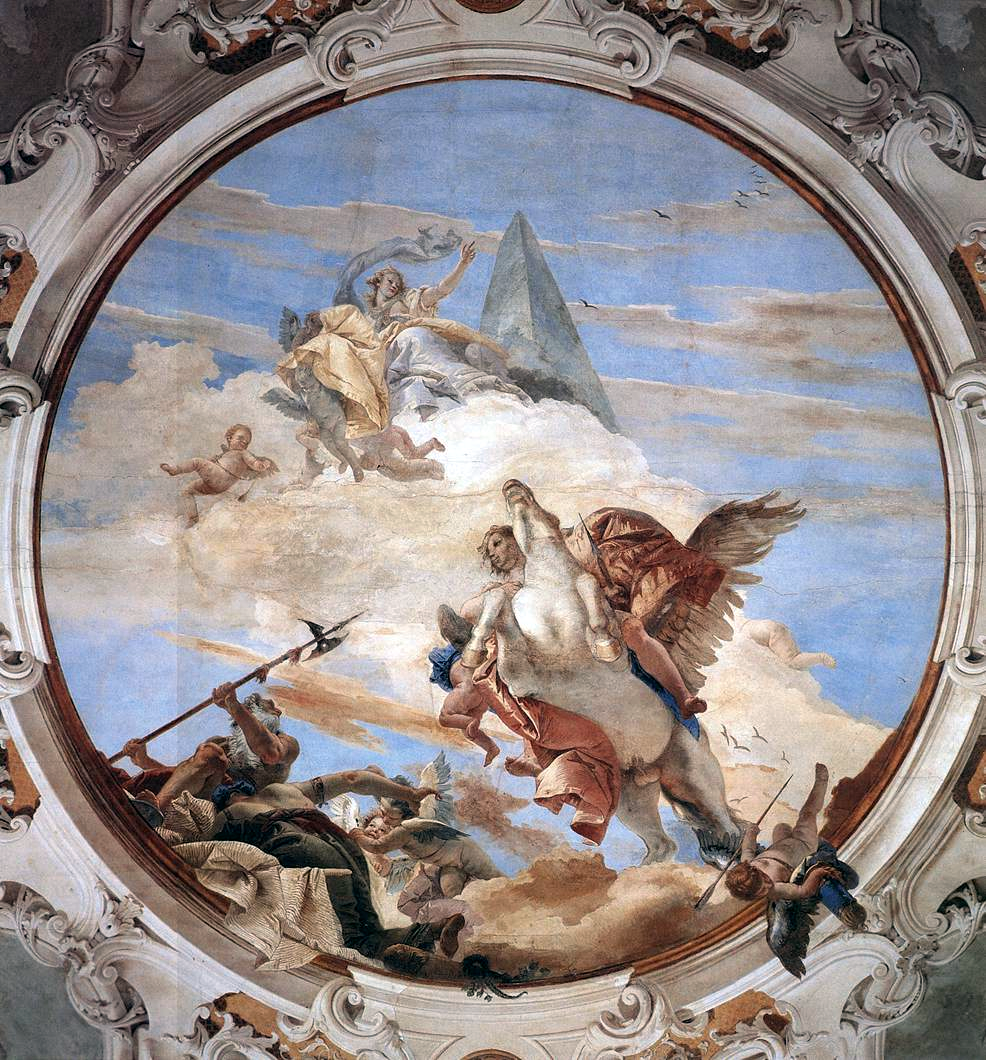 Bellerophon on Pegasus - Giovanni Battista Tiepolo