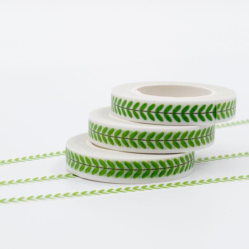 Scotch Decorative Masking Tape Green Japanese Washi Masking Tapes Set Leaf Pattern Decorative