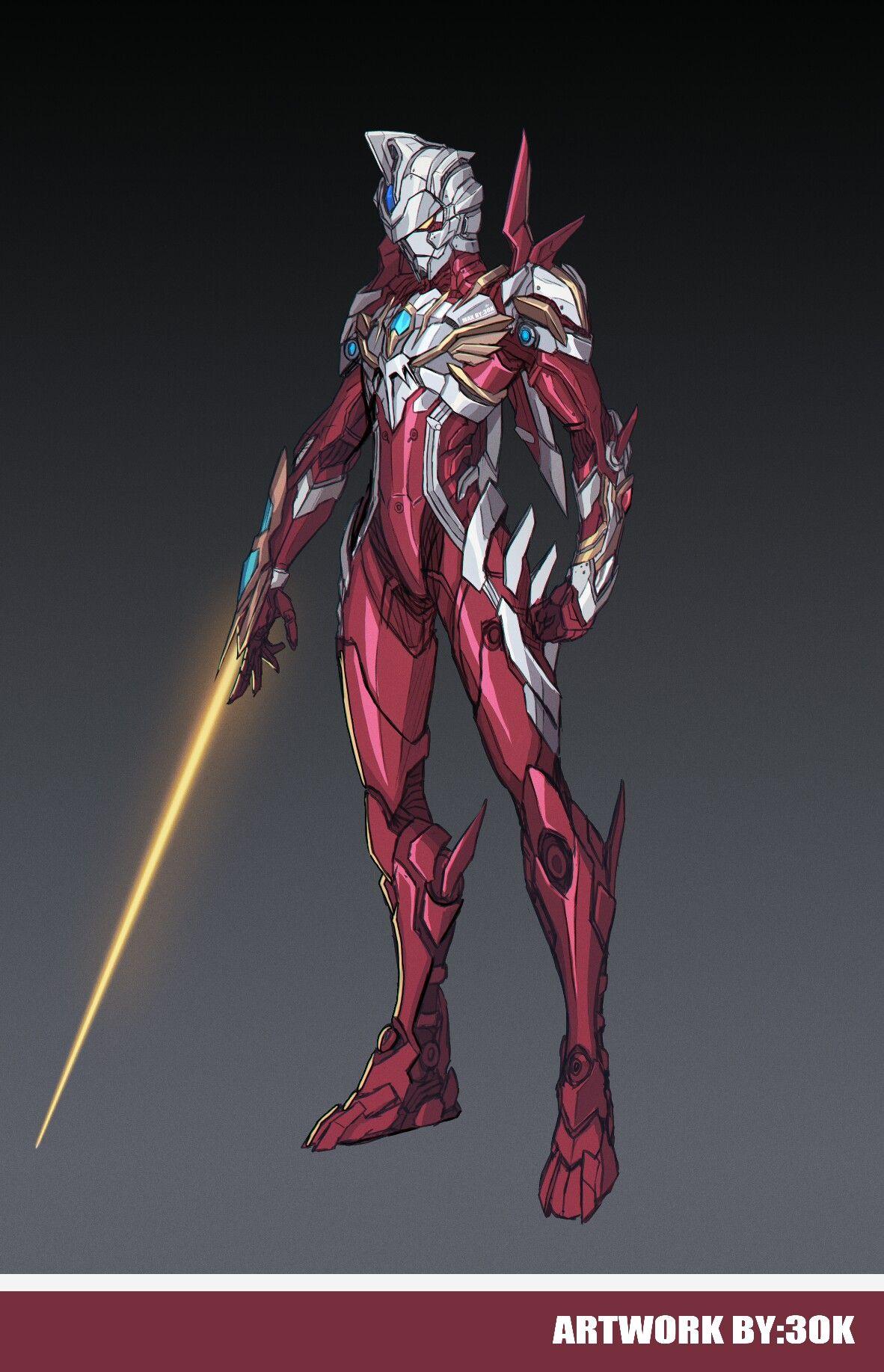 Gambar Ultraman design oleh Jaden chowhy di 2020 Kartun