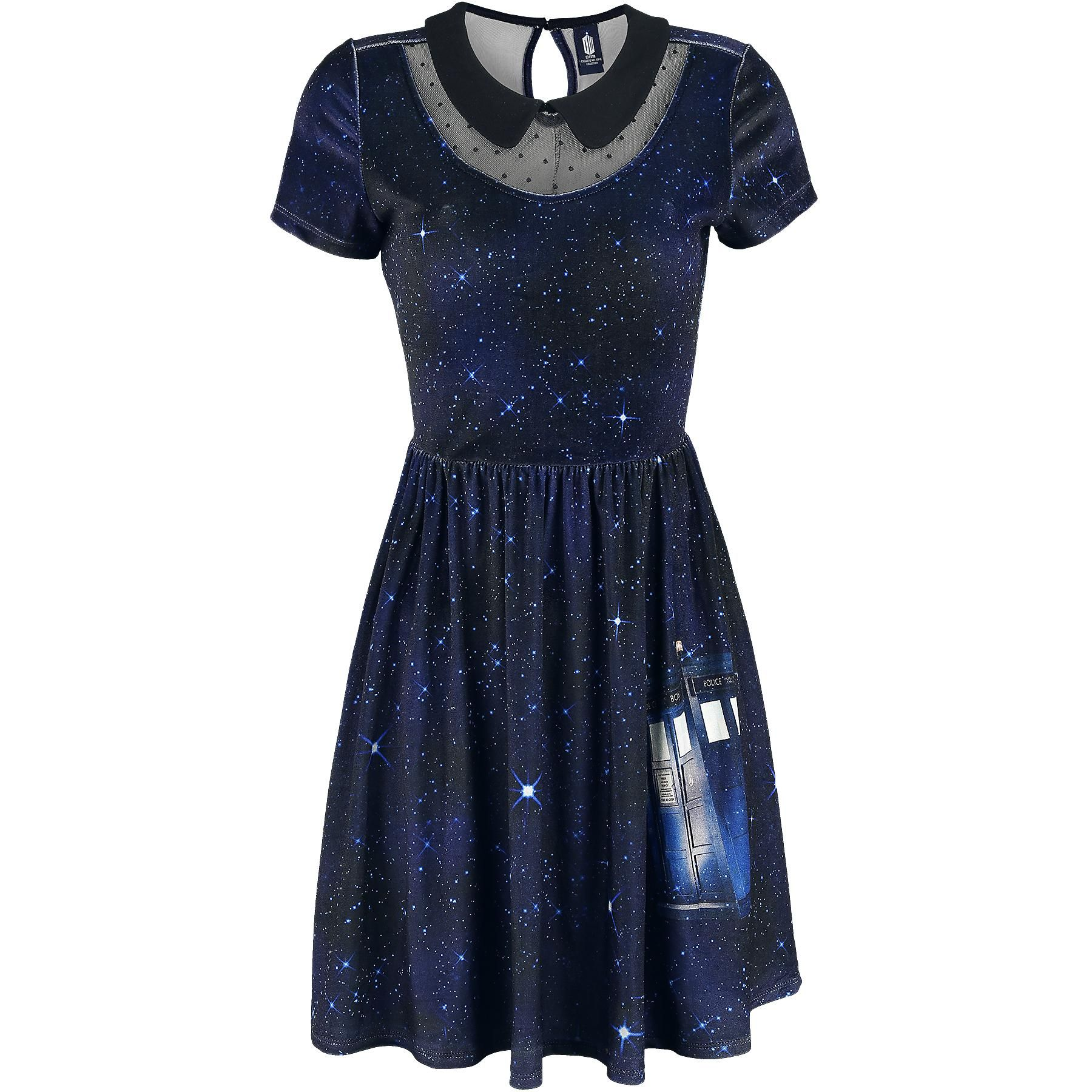 Tardis Galaxy Dress - Kurzes Kleid von Doctor Who | nerdstuff ...