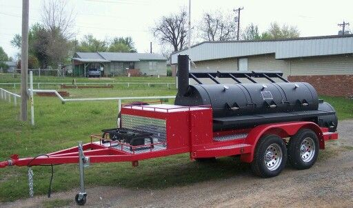 Custom Built 30  Triple Door Horizon Trailer Smoker. #Smokers Call Horizon Smoker Co & Custom Built 30