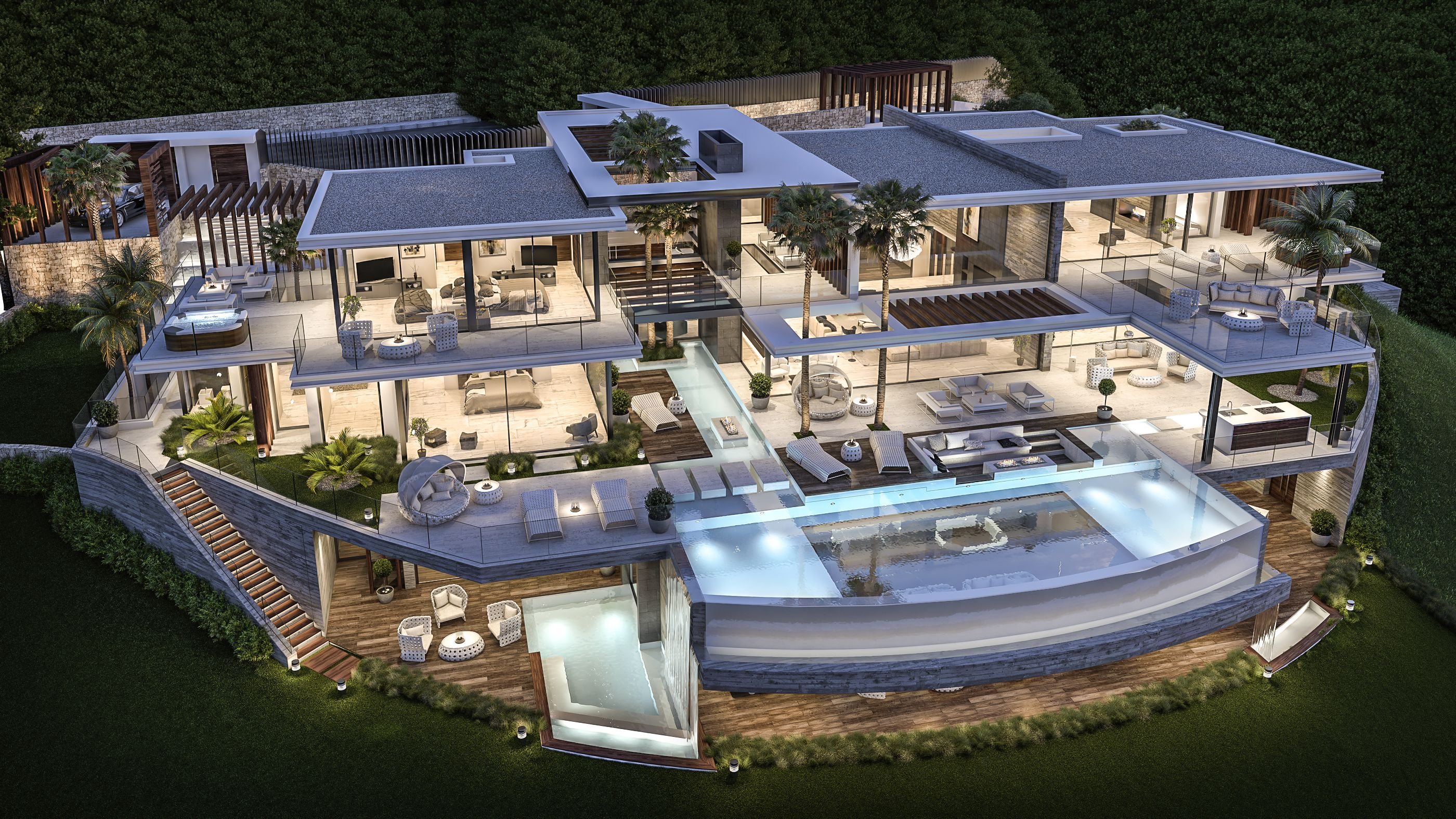 Luxury Homes Architecture Design Villa Luxury Homes Dream Houses Mansions Modern Mansion