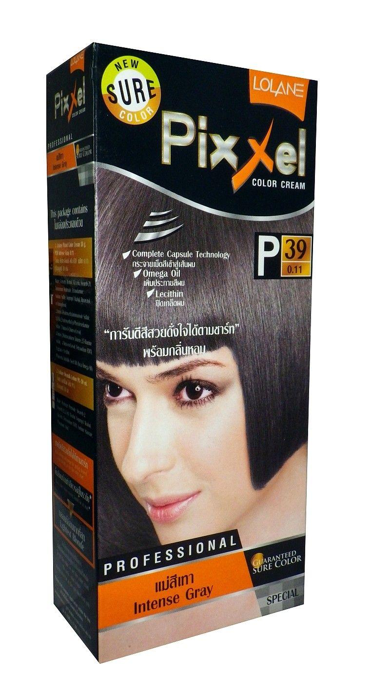 Buy Lolane Pixxel Permanent Hair Color Dye Intense Ash Gray P39