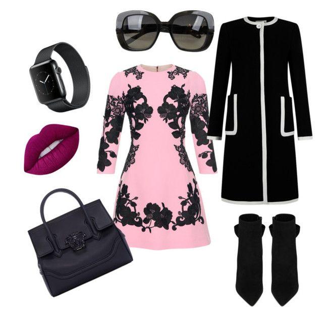 """#54"" by christina-montague on Polyvore featuring Dolce&Gabbana, Yves Saint Laurent, Hobbs, Versace, Bottega Veneta and Lime Crime"