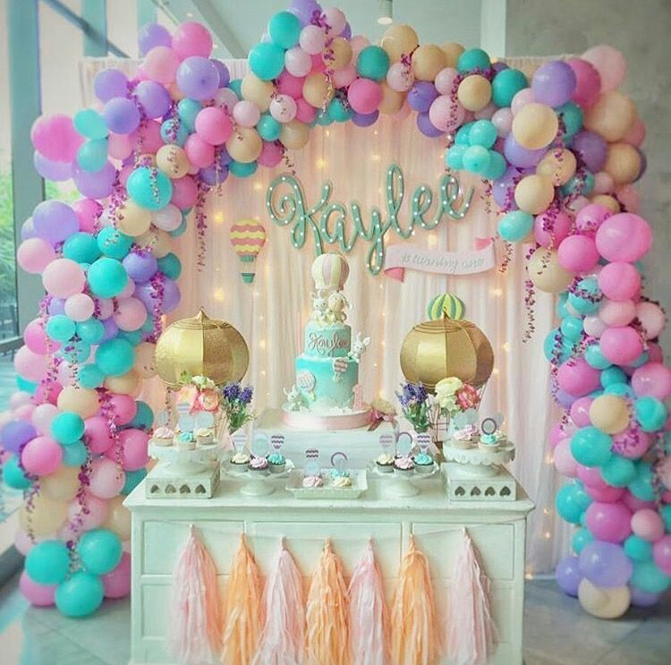 Organic Arch Balloon Decoration For Birthday Party Themes Girls Kids Decorations