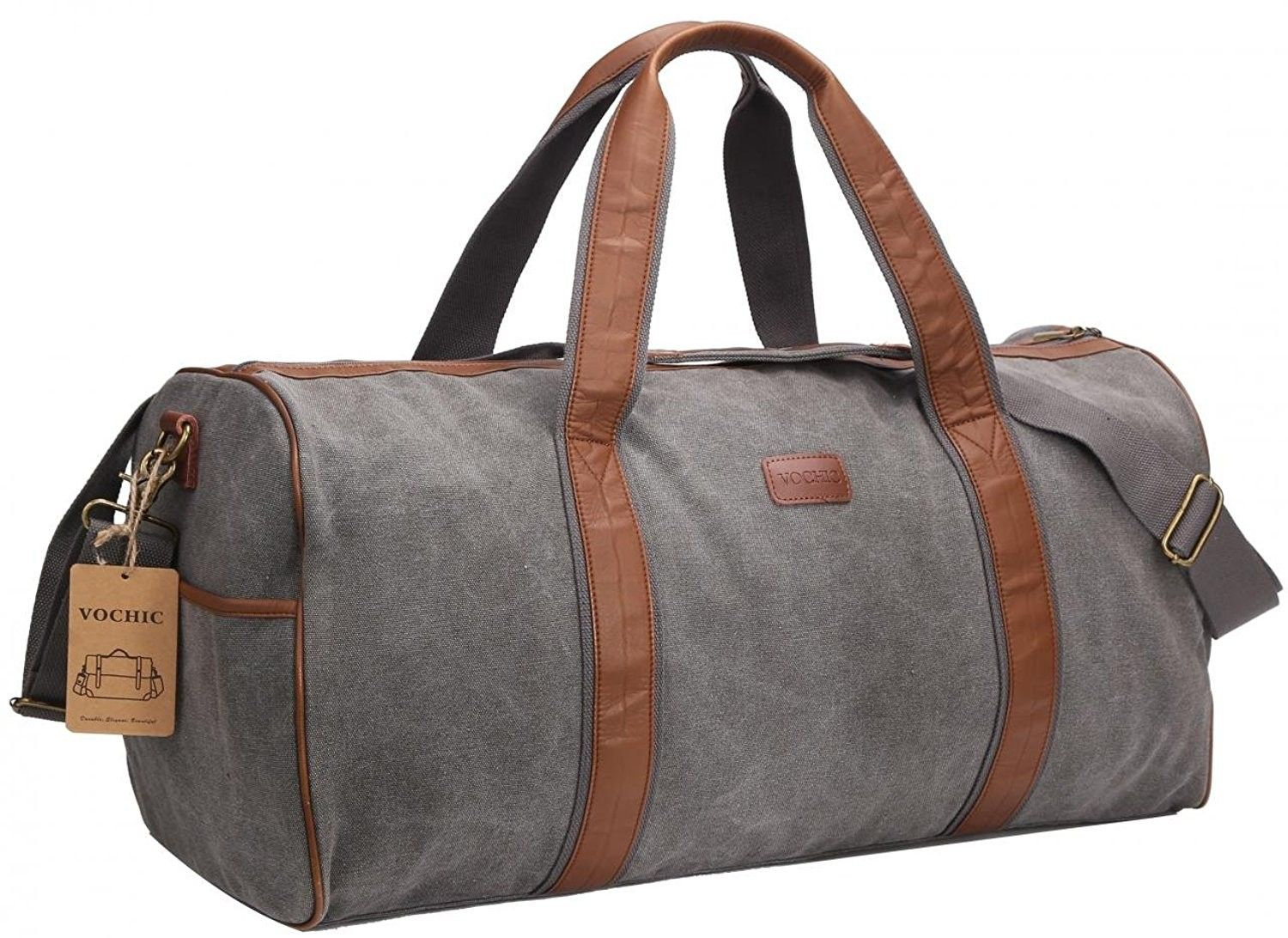 14c7c9642d Large Canvas Travel Duffel Bag For Mens Womens Overnight Weekend Bag ...