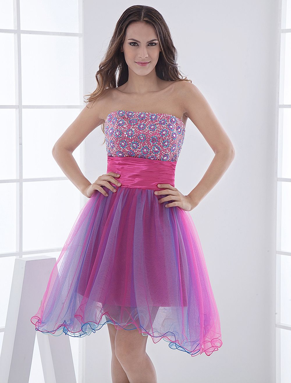strapless-dresses-for-teens-combined-with-pink-floral-motif-accent ...