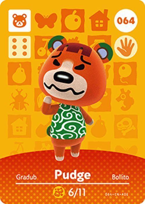 Nintendo Animal Crossing Happy Home Design Pudge Amiibo