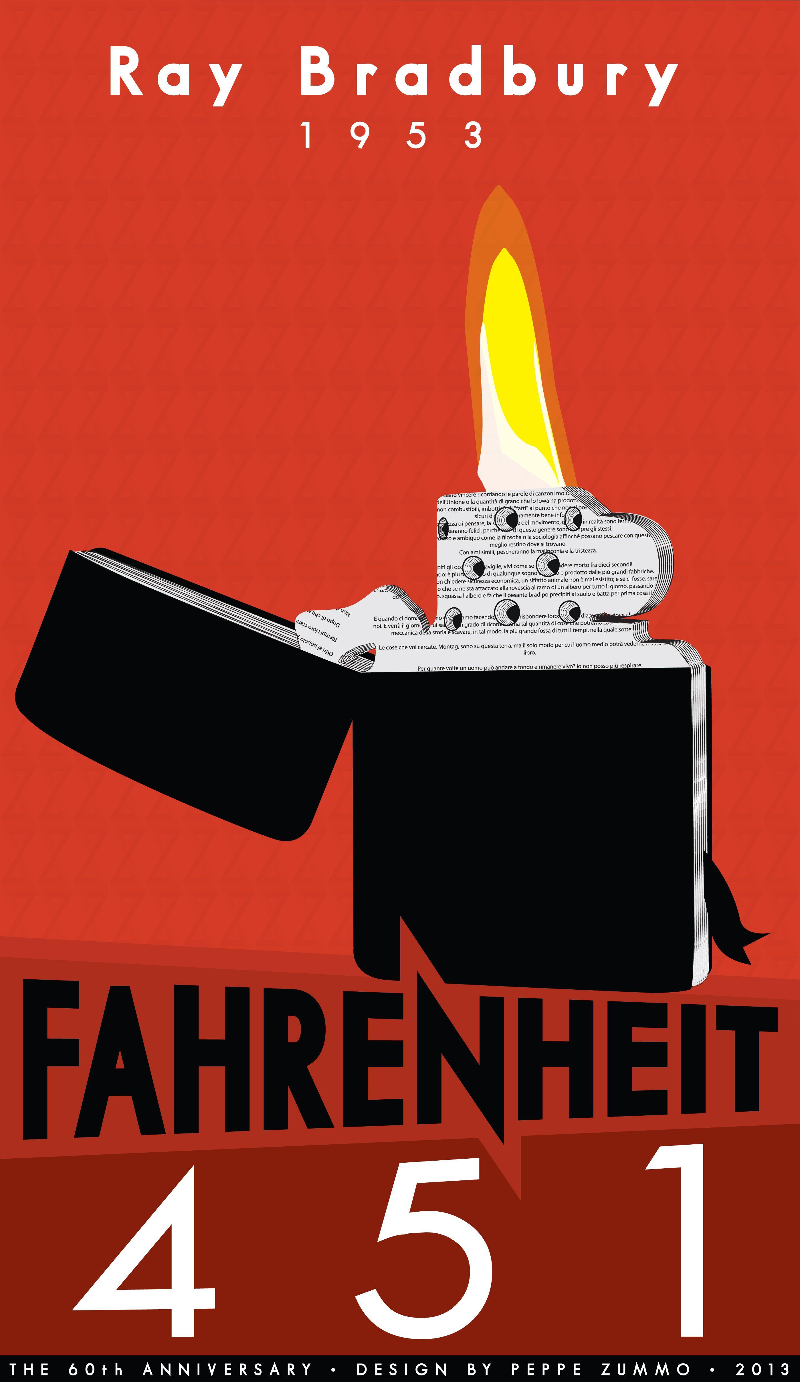 Quot Fahrenheit 451 Quot Ray Bradbury 60th Anniversary Design By Zummo