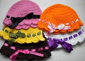 AnnaVirginia Fashion: FREE Crochet Pattern Flapper-Girl Baby Hat