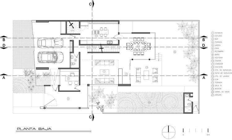 Casa Mar A Arkylab Plantas Arquitectonicas Pinterest