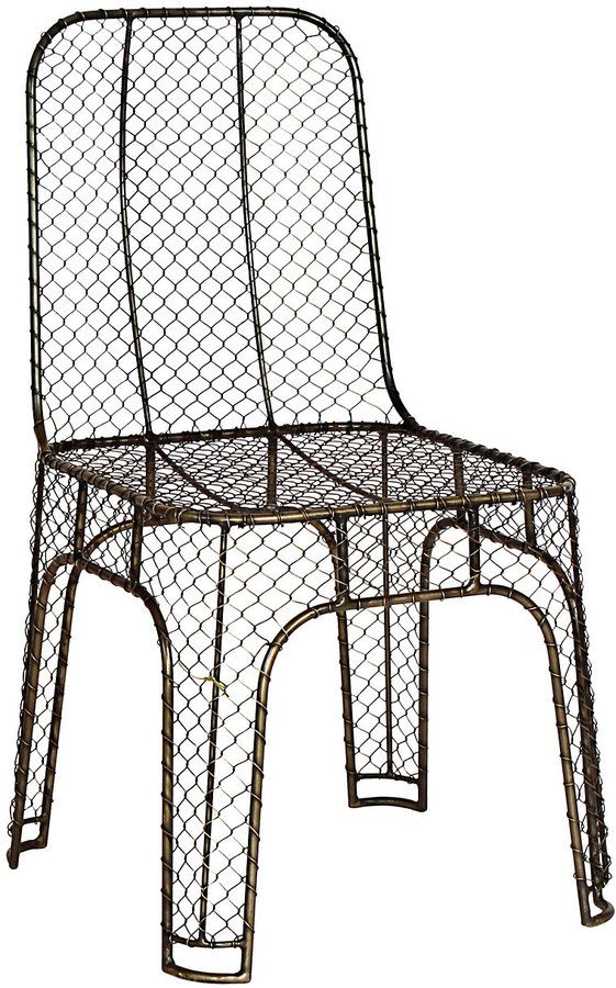 Steel Wire Chair Wire chair, Home decor