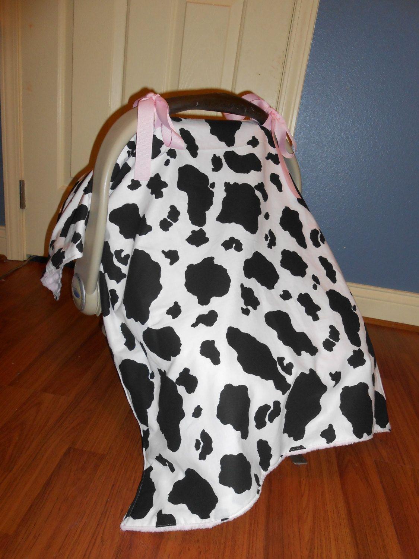 Fabulous Black And White Cow Print Car Seat Cover Tent Canopy Baby Frankydiablos Diy Chair Ideas Frankydiabloscom