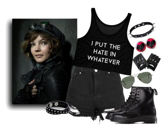 Selina Kyle: Summer by holly-the-fangirl on Polyvore featuring polyvore fashion style Dr. Martens Diesel JULIANA Ray-Ban clothing