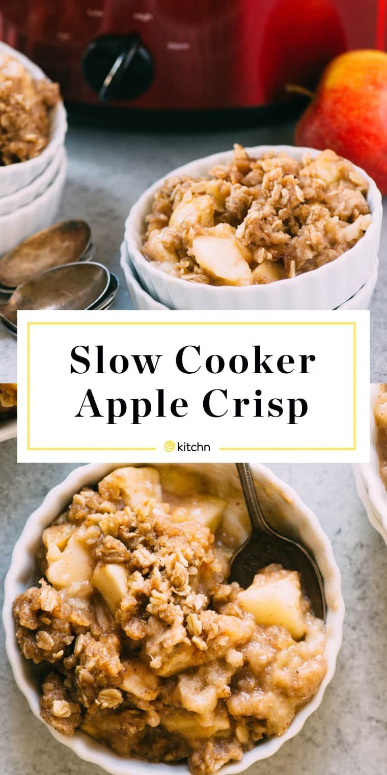 Slow-Cooker Apple Crisp #applecrisp