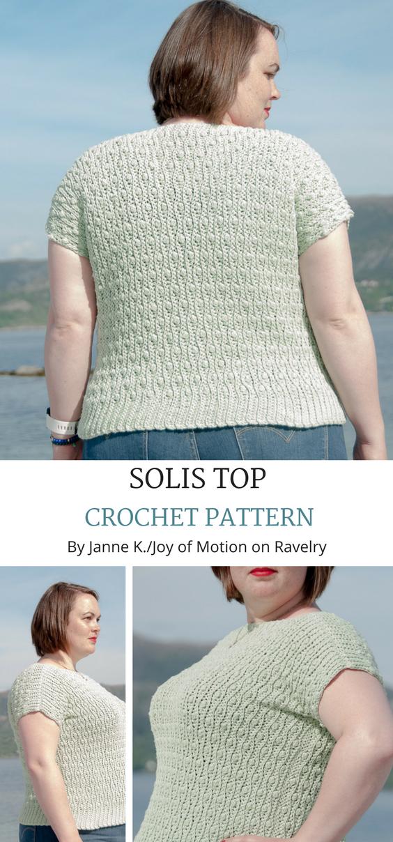 Solis Top pattern by Joy of Motion | Tejido