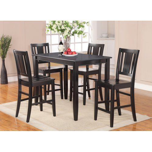 Lightner 5 Piece Dining Set Small Round Kitchen Table Small