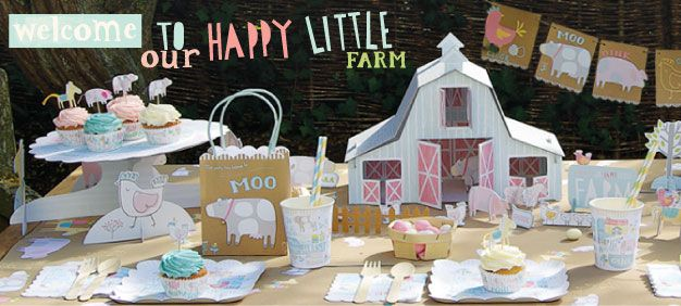 Kids Farm Party Supplies