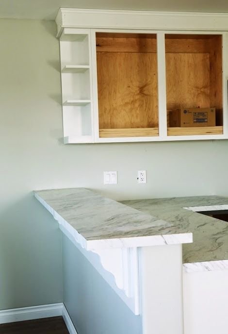 Build A Open Shelf End Wall Cabinet Free And Easy Diy Project And Furniture Plans Diy Countertops Home Home Renovation