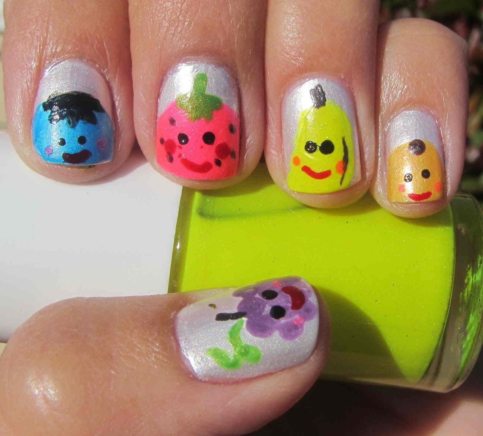 fruit nail art   Nail Art   Pinterest