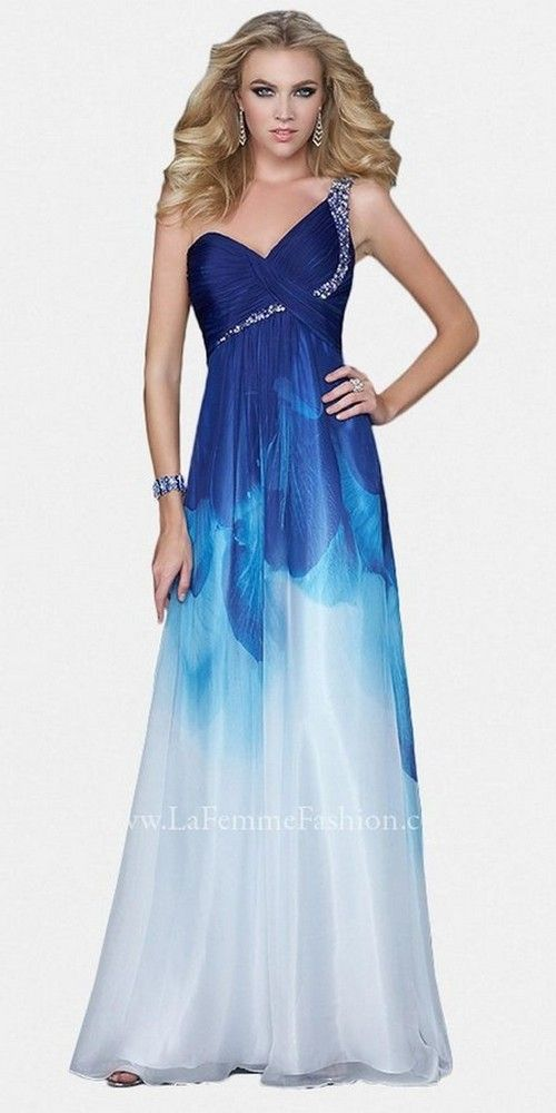 Blue Ombre Dress & Mermaid Chic Look- | Beauty tips | Pinterest ...