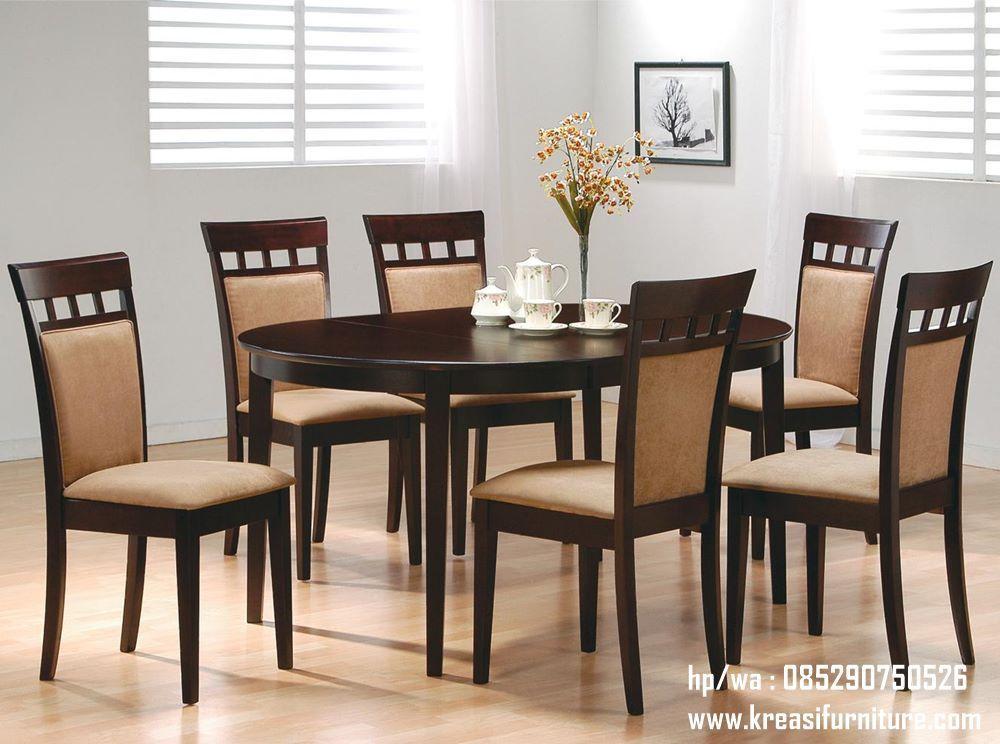 Meja Kursi Makan Jok Natural Minimalis Set Ruang Makan Ide