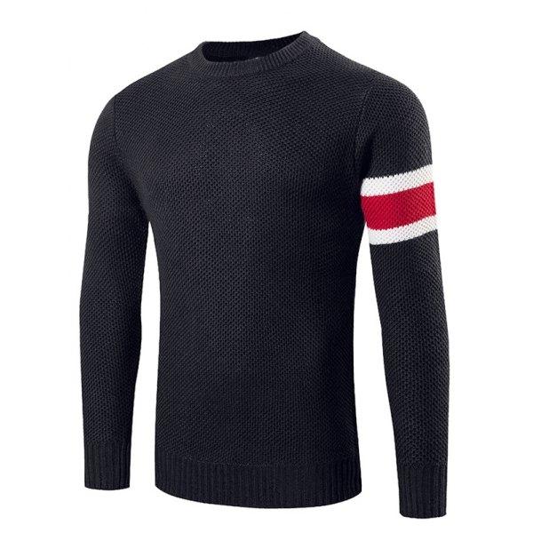 31.72$  Watch here - http://diqhq.justgood.pw/go.php?t=199202809 - Stripes Pattern Crew Neck Sweater 31.72$