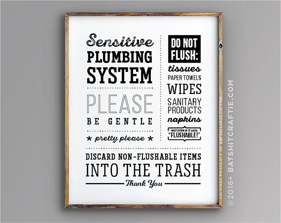 Bathroom Sign Instant Download Printable Sensitive Plumbing Etsy In 2020 Bathroom Signs Septic Sign Plumbing