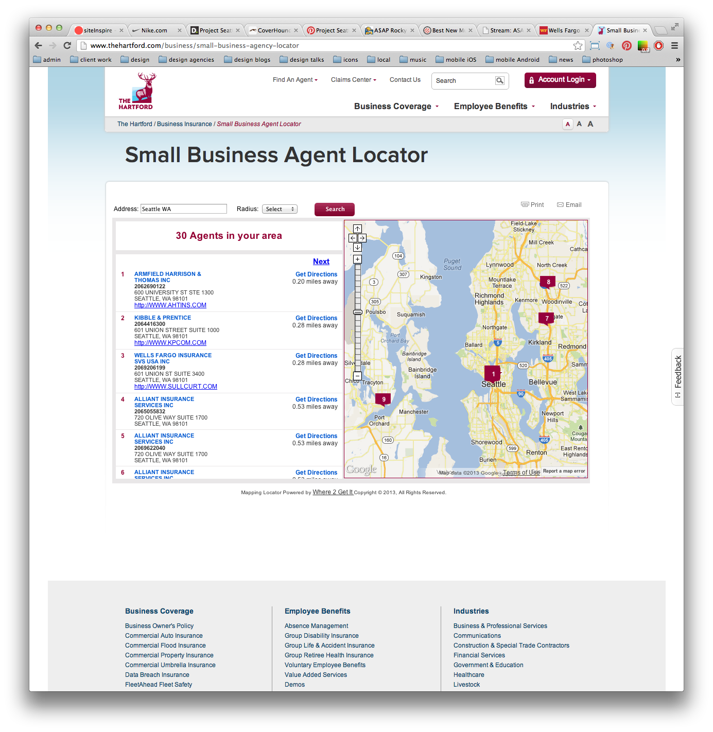 The Hartford Small Business Locator http//www