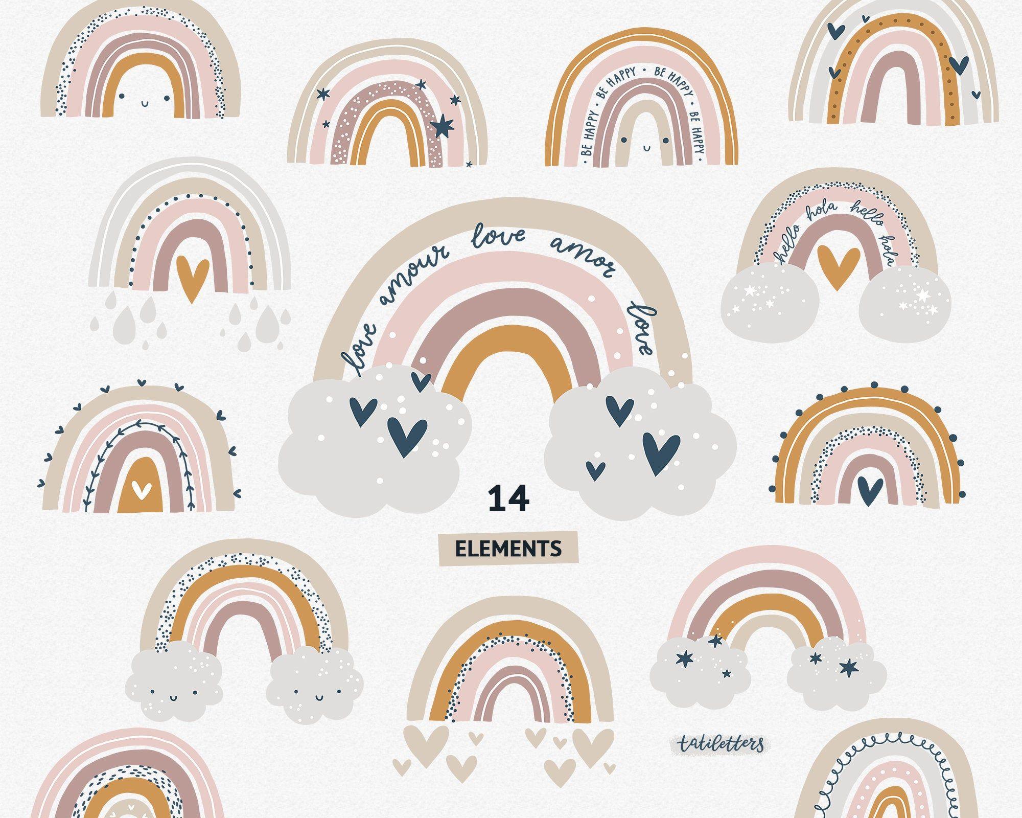 Rainbow clipart Rainbow svg Pastel colors Rainbow Vector