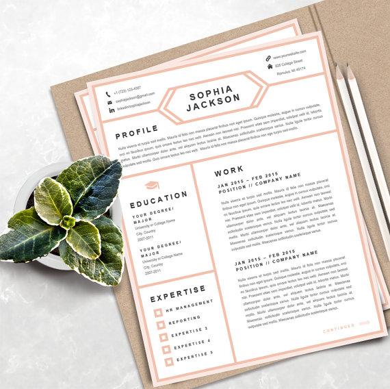 Creative Resume Template instant download Printable professional - printable cover letter
