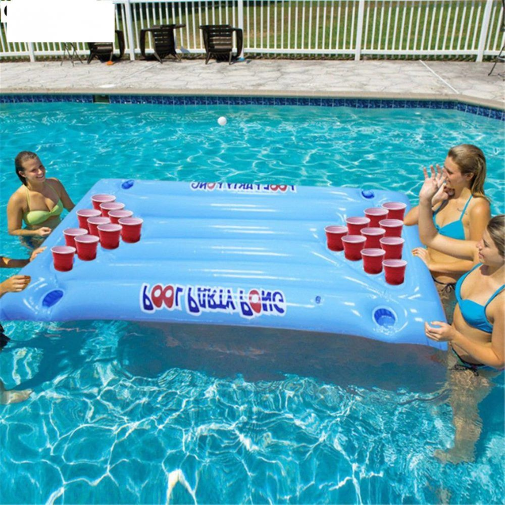 Inflatable Beer Pong Float Best Most Up To Date Online Store For Everything In 2020 Pool Beer Pong Swimming Pool Accessories Inflatable Pool Floats