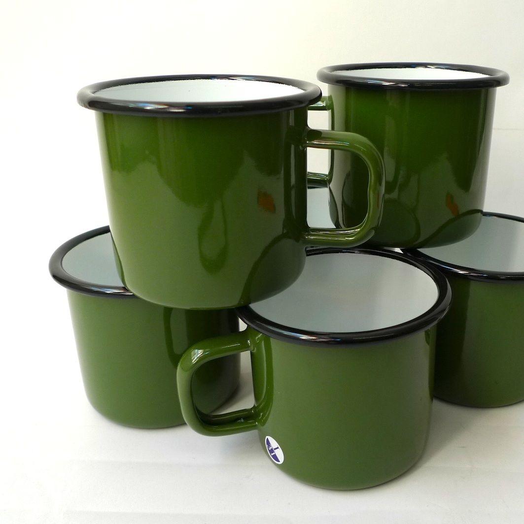 Utility - Utility enamel mug - green