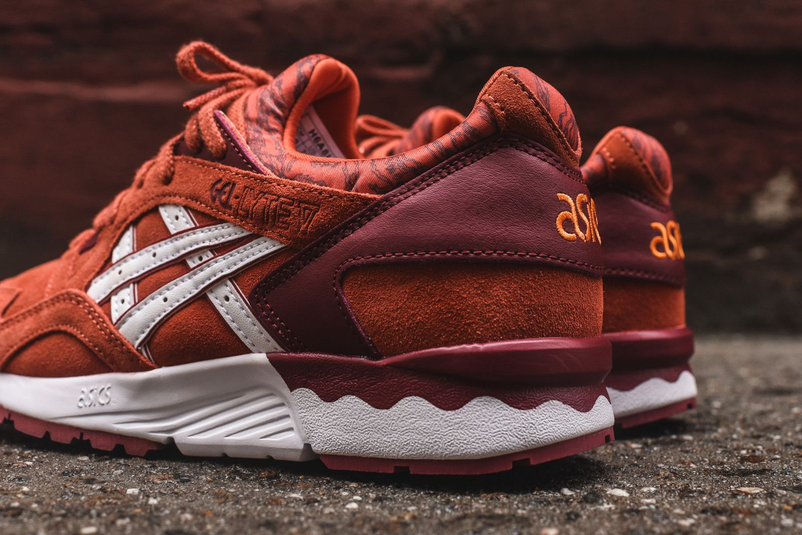 Asics Womens Burgundy Gel Lyte V