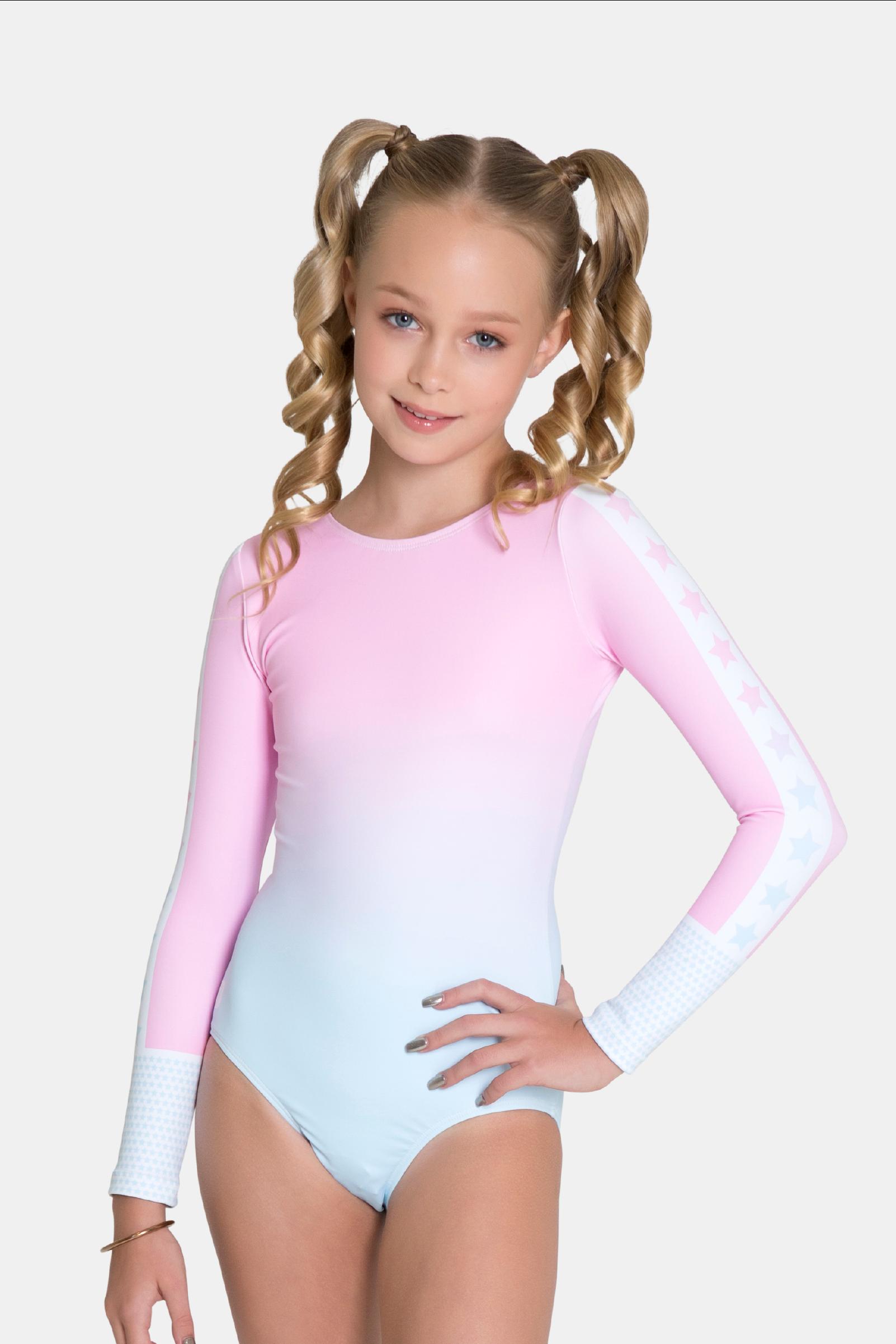 9c995605b480 Sylvia P - Cotton Candy Long Sleeve Leotard