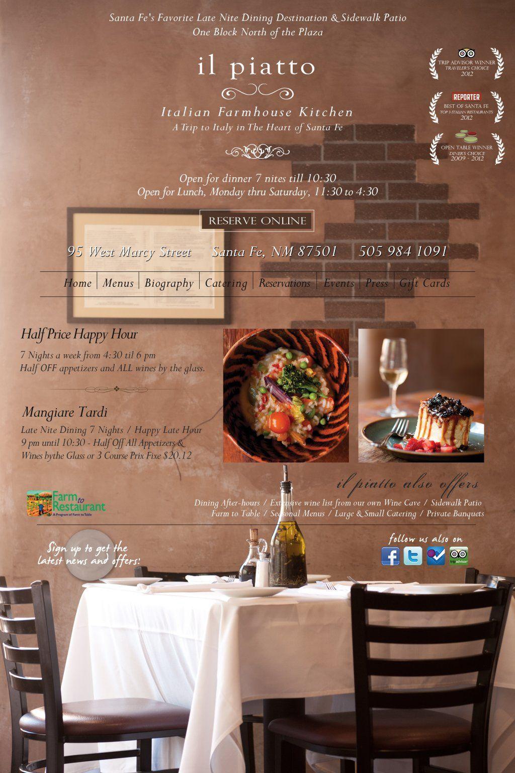 Il Piatto Italian Restaurant Santa Fe Nm The Best