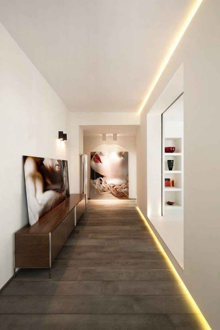 63 Awesome Modern Led Strip Ceiling Light Design Arredamento
