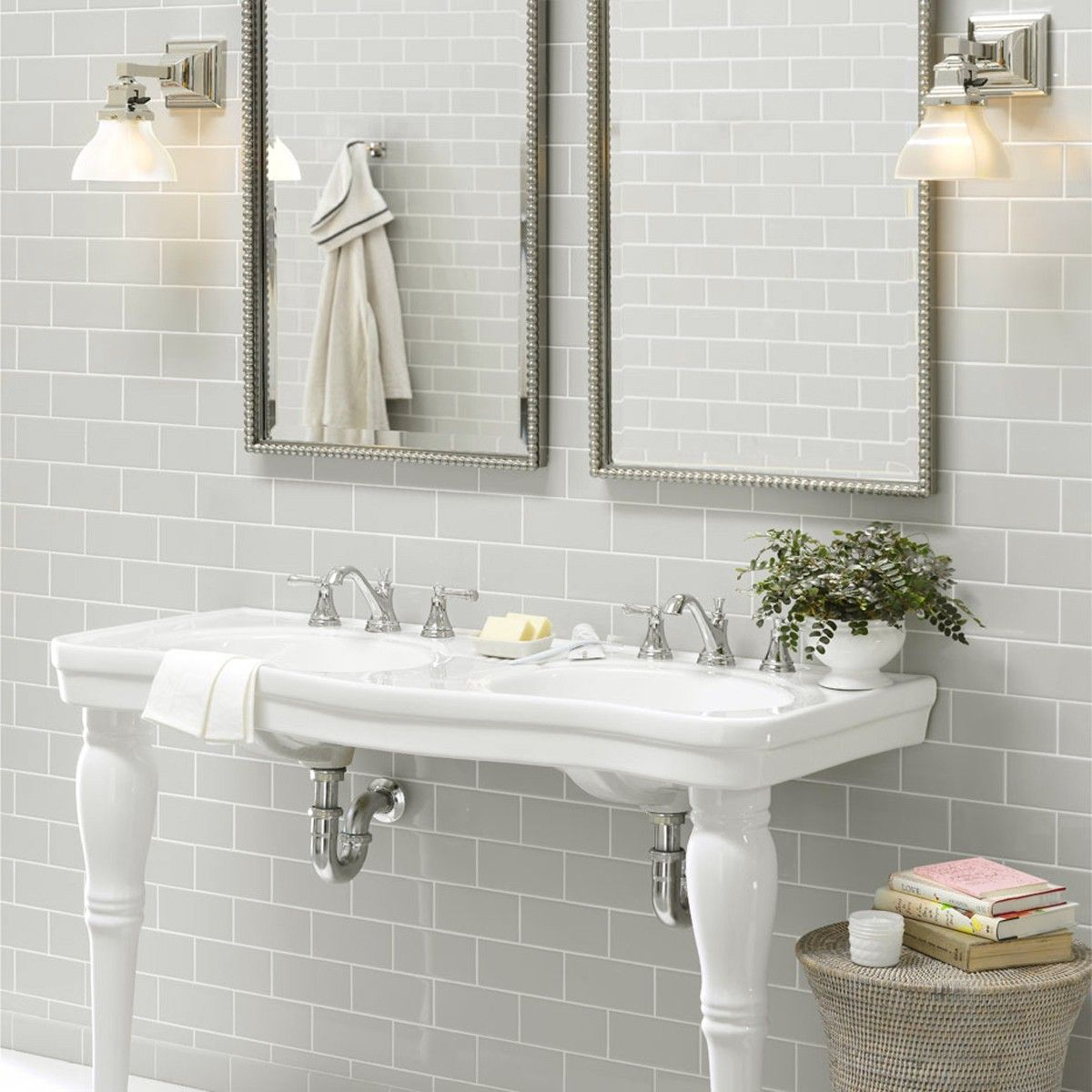 Lastest Shower W Floor To Ceiling Glass! Window Above And Floating Vanity Love It  SOUTHERN WING BATHROOM Grey Floor Tile That Continues Up The Wall Of The
