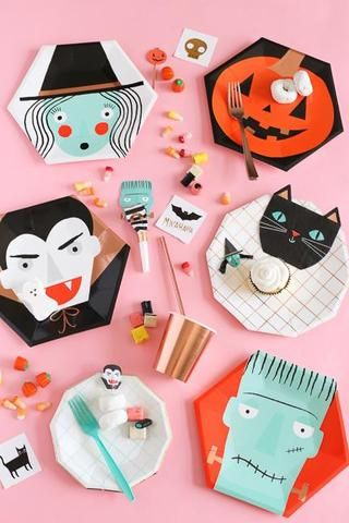 Halloween Witch, Vampire, and Black Cat Party Supplies Halloween