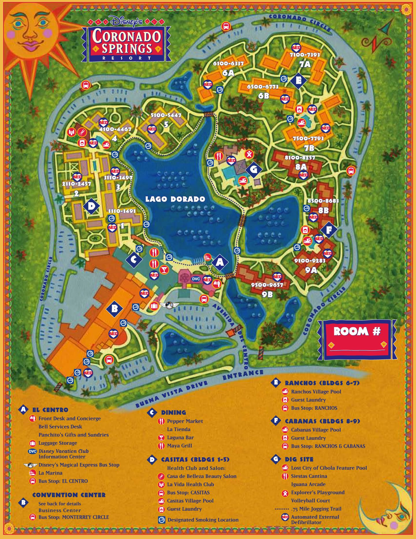 Disney Resorts -- Coronado Springs Resort map | WDW -- Disney ...