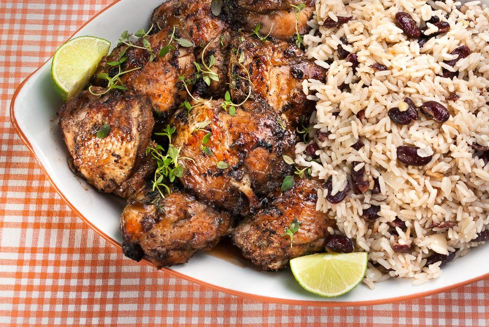 Jerk Chicken With Rice And Peas Maybe Its The Wrong Time Of Year