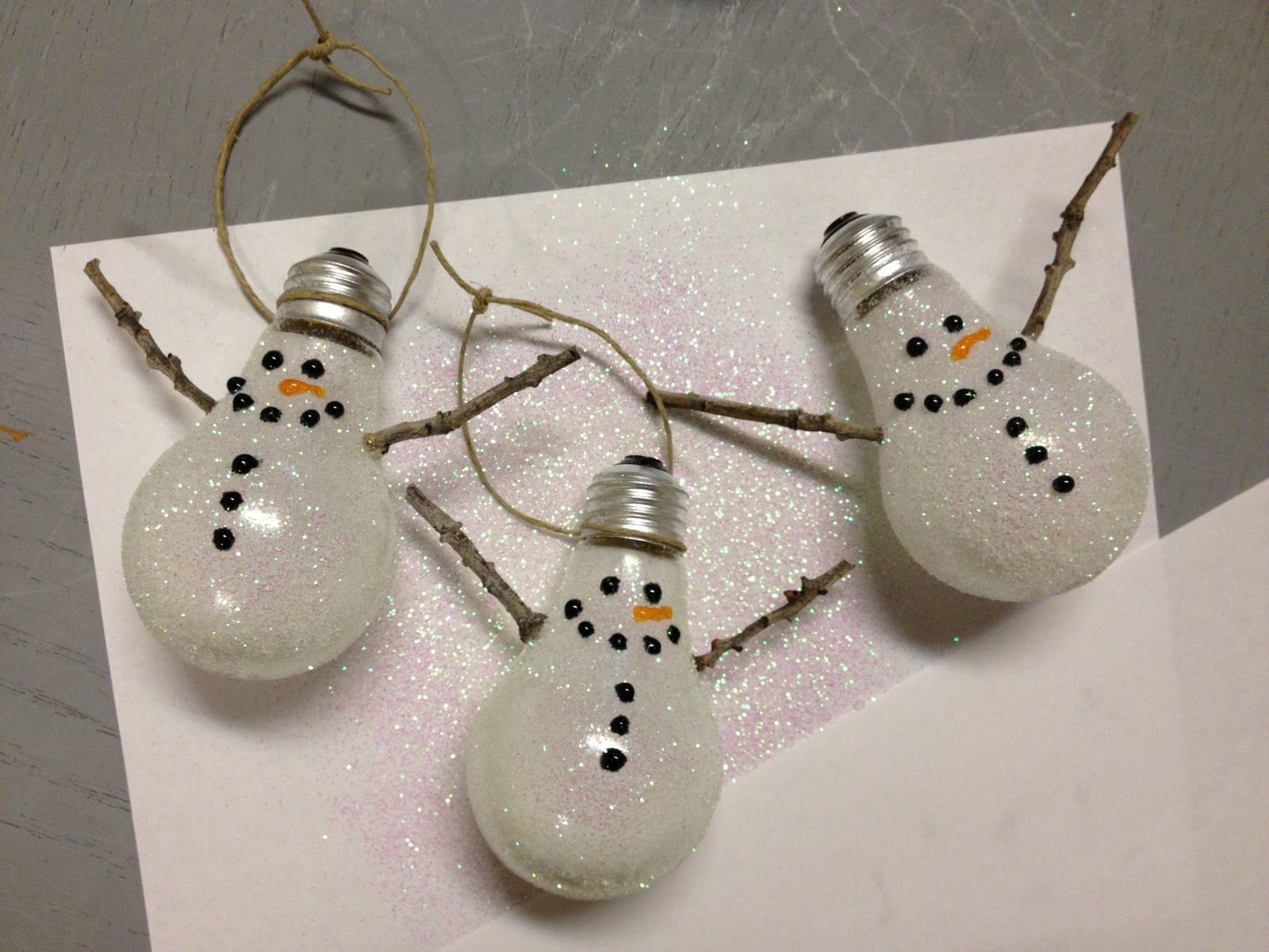 Snowman Ornament Tutorial